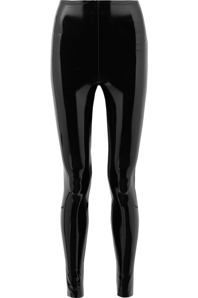 9c09aaca6 Commando Classic Patent Faux-Leather Firming Leggings In Black ...