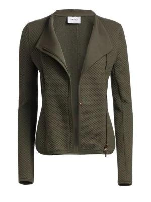 Akris Punto Fantasy Jacquard Zip-Front Jacket In Olive