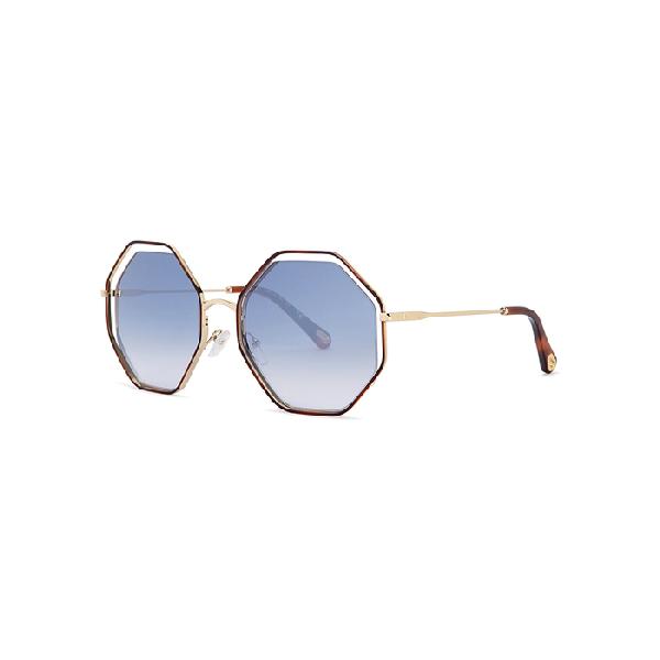 e33b529cb4c ChloÉ Poppy Octagon-Frame Sunglasses In Blue