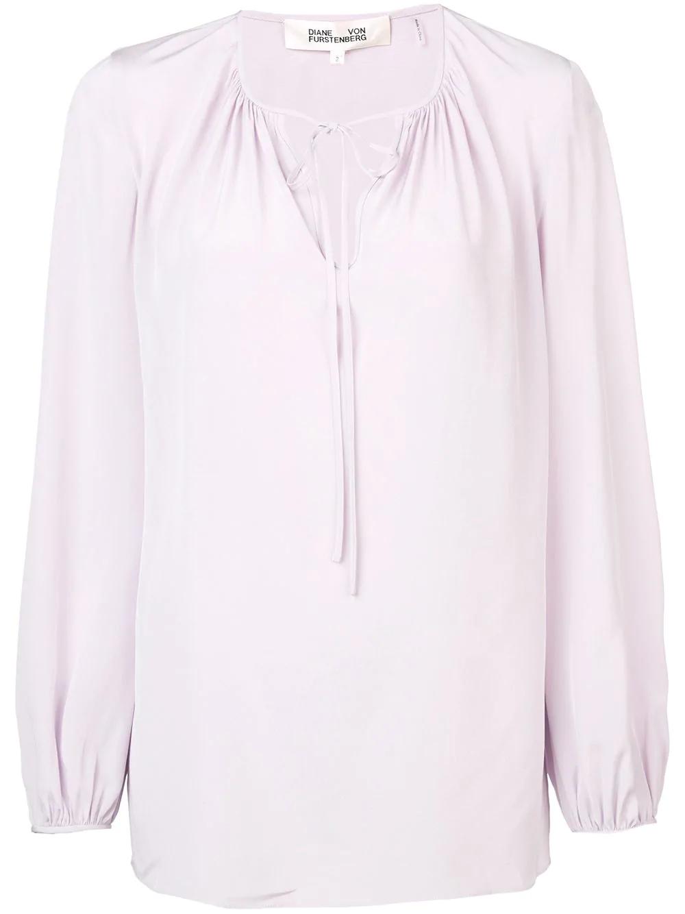 69250759317882 Diane Von Furstenberg Dvf Drawstring Blouse - Pink | ModeSens