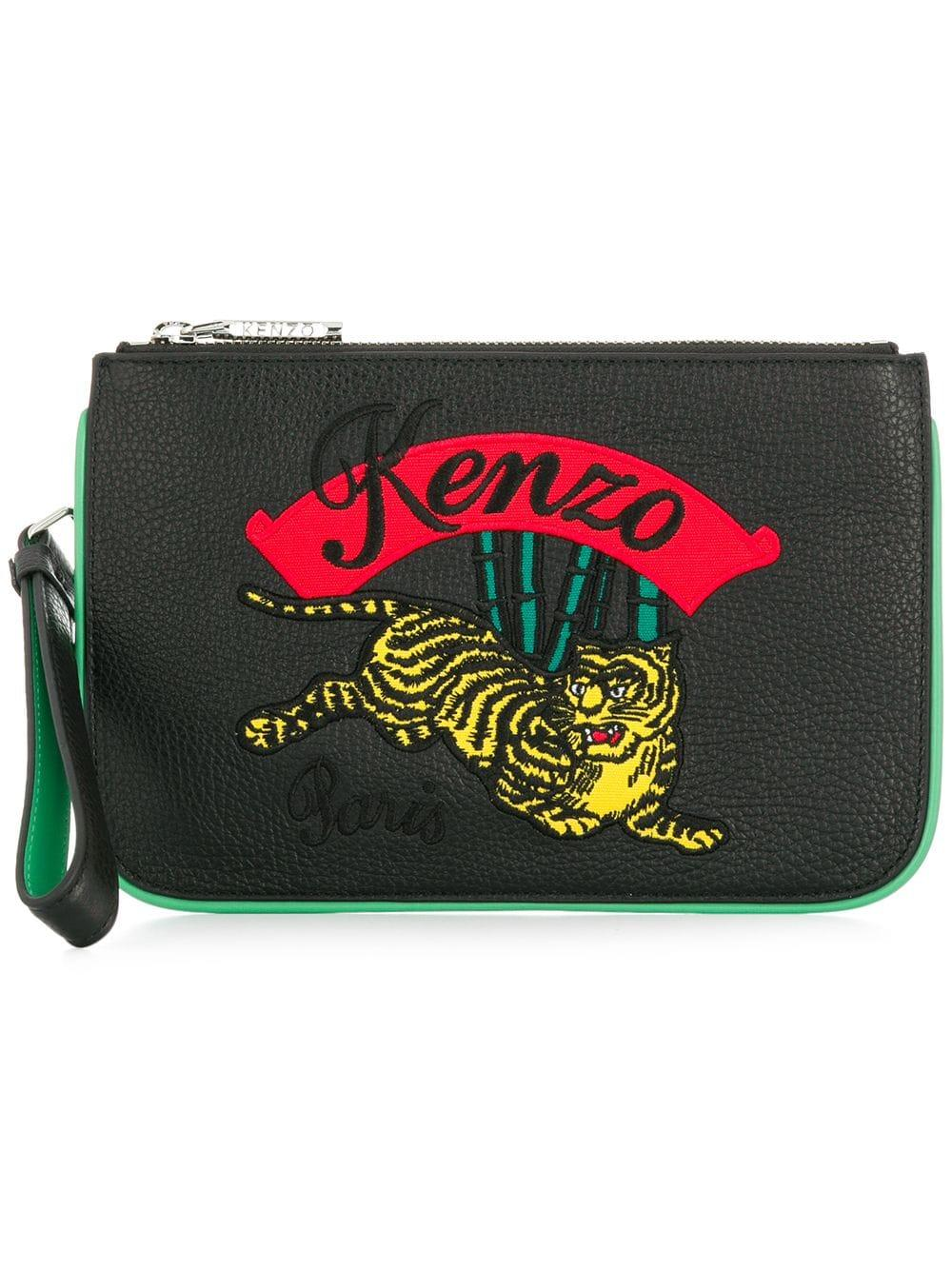 0f426bd0 Kenzo Tiger Patch Purse - Black | ModeSens