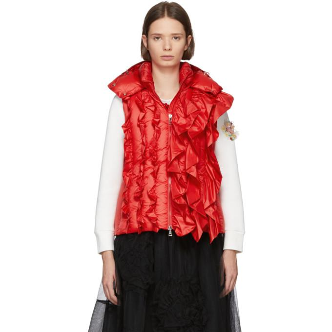 933bc1d77 Moncler Genius 4 Moncler Simone Rocha Red Down Marianne Vest in 45I Red