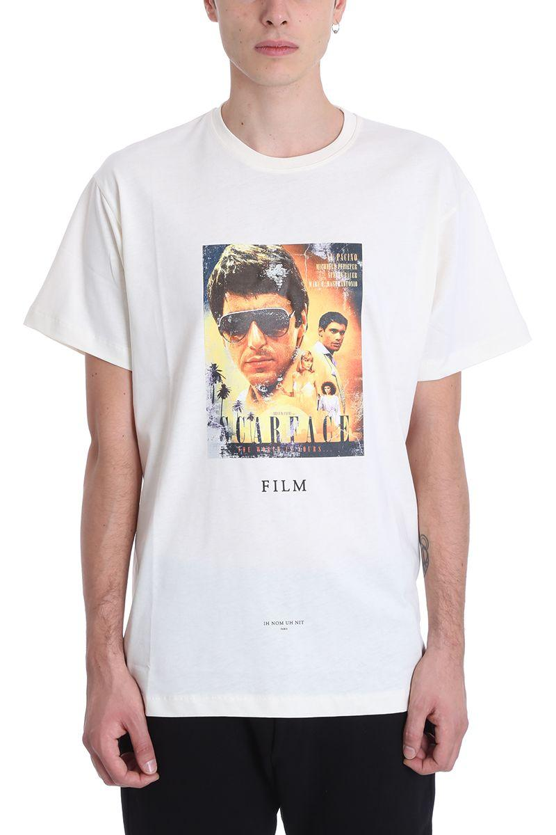 Ih Nom Uh Nit Scarface White Cotton T-Shirt In Beige