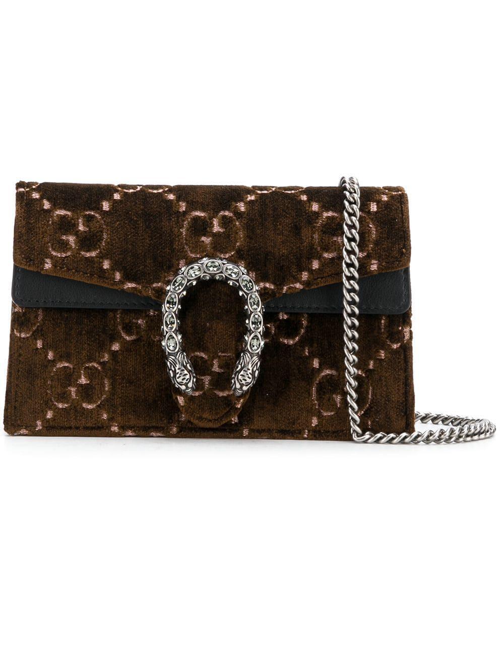 22f93da15ae3 Gucci Dionysus Gg Velvet Small Shoulder Bag In 6484 Red | ModeSens