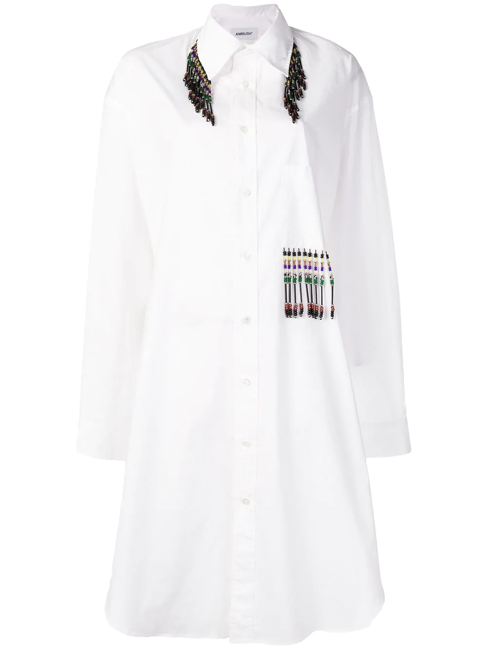 b47f77ac3fe AMBUSH. Ambush Embellished Shirt Dress - White