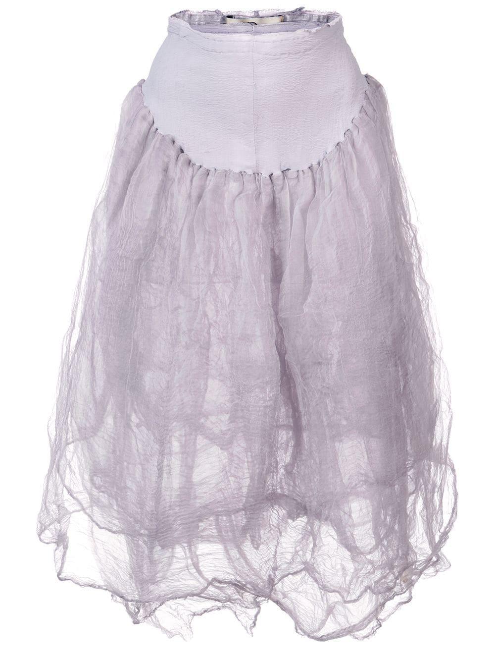 Marc Le Bihan Loose Flared Skirt In Pink