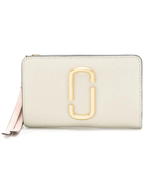 Marc Jacobs Snapshot Compact Saffiano Leather Wallet In 088 Dust Multi