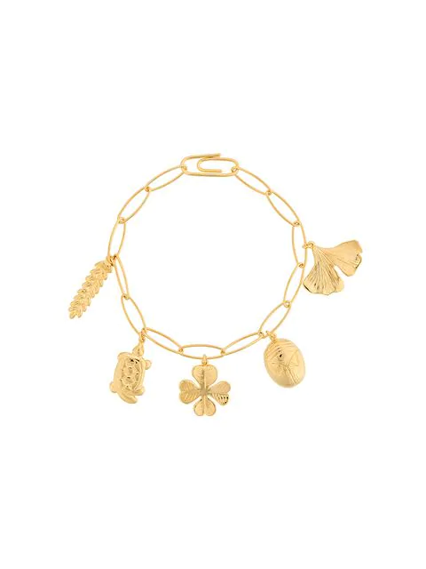 Aurelie Bidermann Aurelie Charm Bracelet In Metallic