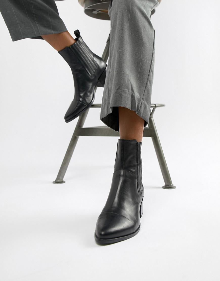 WOMENS VAGABOND MARJA Chelsea Boots Espresso Leather Boots