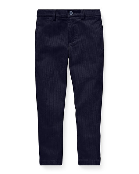 Ralph Lauren Childrenswear Corduroy Straight-leg Pants In Blue