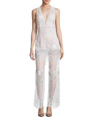 7fbe319500be Alice Mccall New Romantics Lace Jumpsuit In White