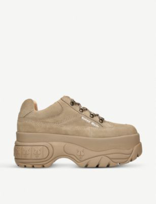 best service 6ab0f 07ec2 Sporty Suede Platform Trainers in Brown