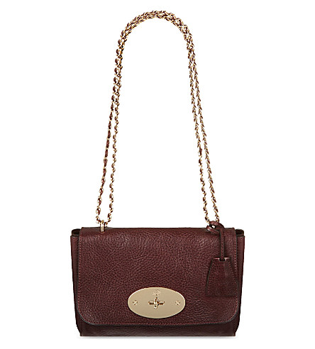 Mulberry Lily Leather Shoulder Bag In Oxblood
