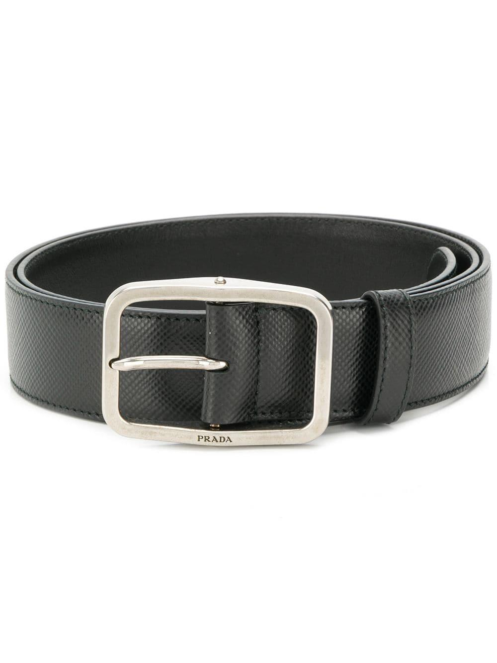 d6fe40cfd112 Prada Saffiano Buckle Belt - Black