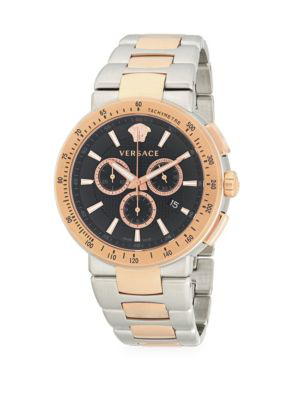 Versace Two-Tone Stainless Steel Bracelet Watch In Gold