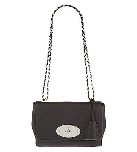 Mulberry Medium Lily Shoulder Bag In Black+W+Silvertone