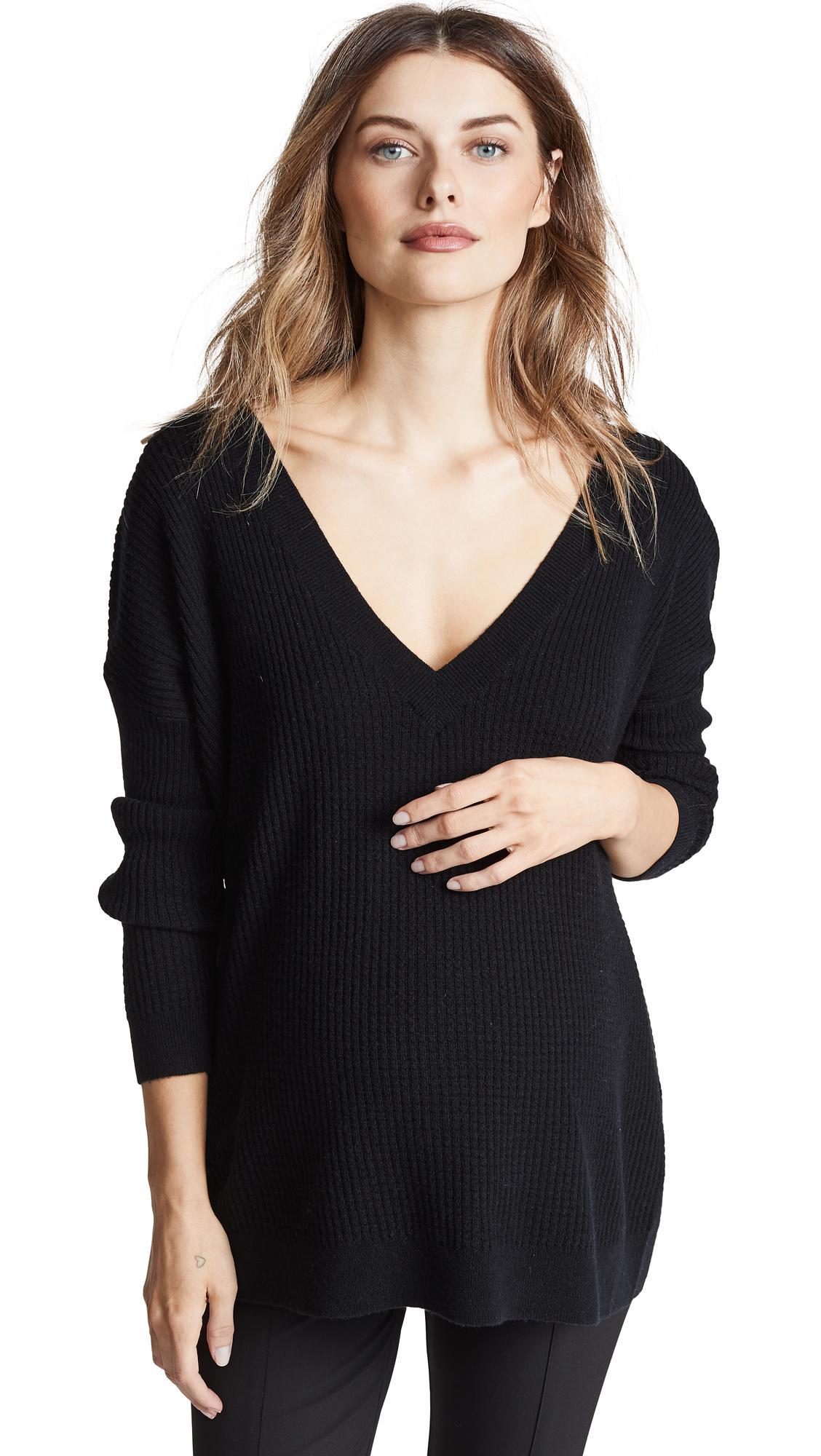 Hatch Easy V Neck Sweater In Black