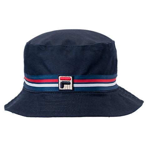 91ad790e8da Classic style and low-key comfort team up on the Fila Heritage Bucket Hat.  Easygoing and always in style
