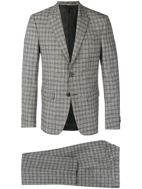 Givenchy Checkered Suit - Grey