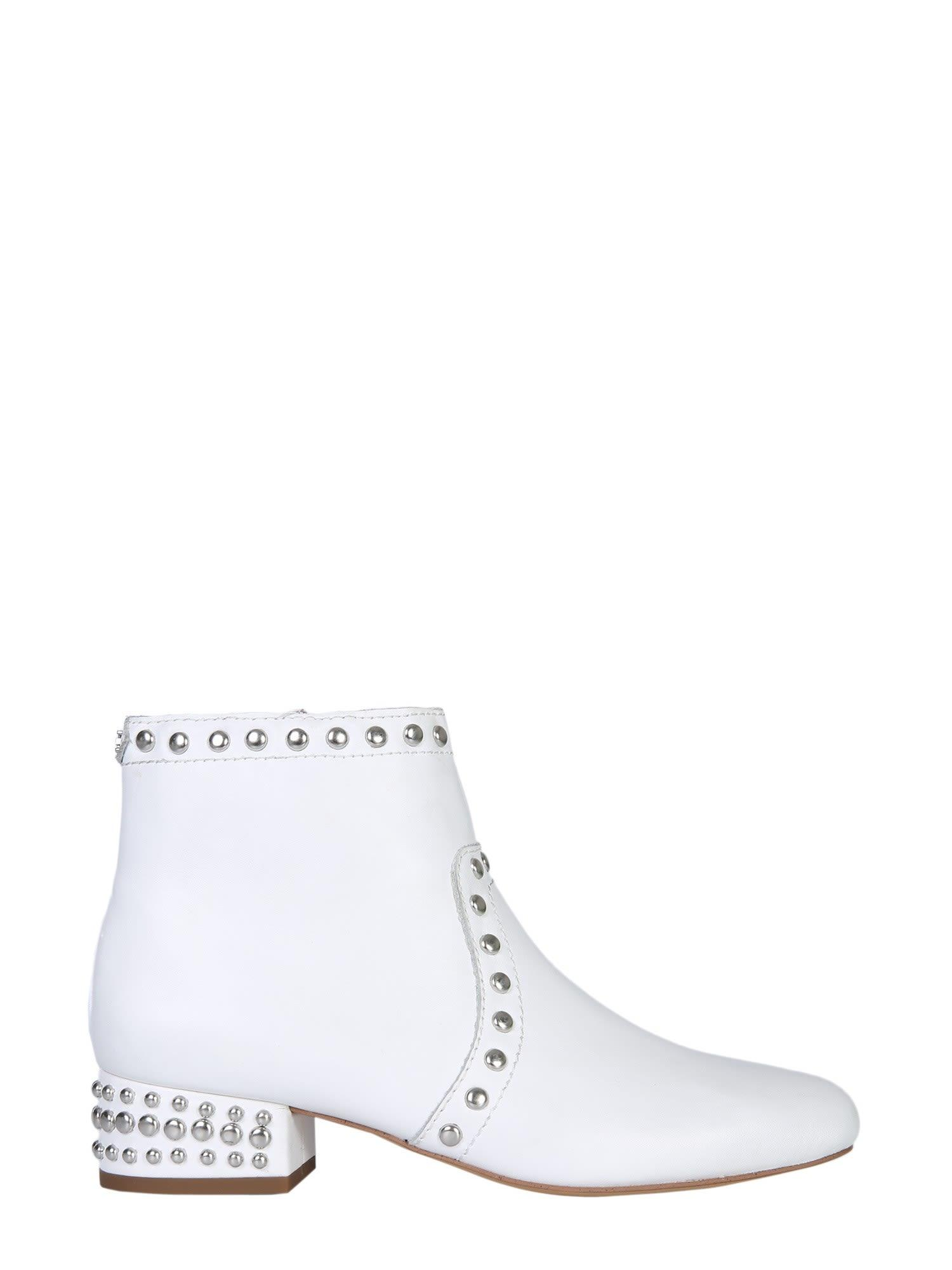Lorin Ankle Boots In Bianco