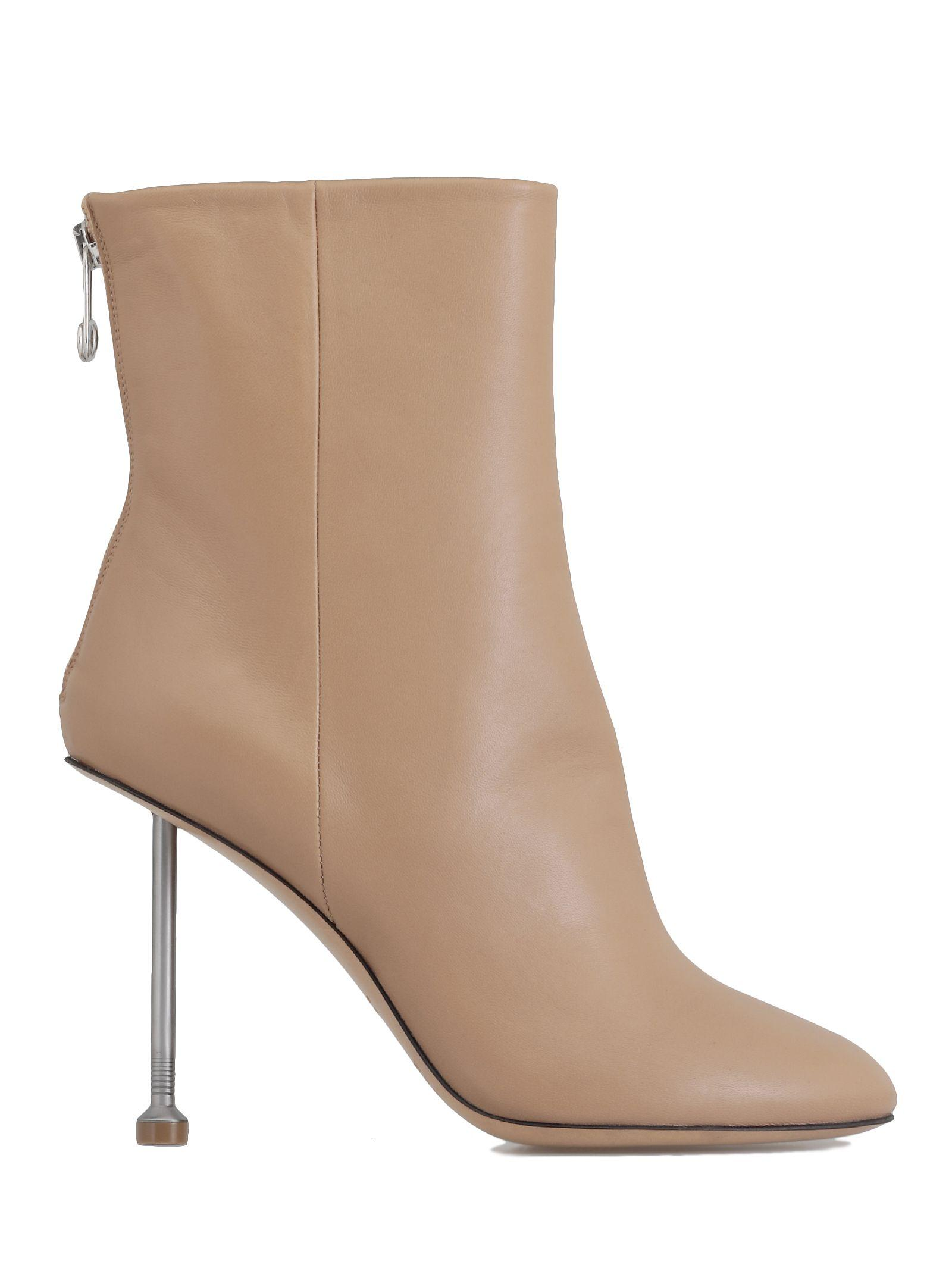 Maison Margiela Leather Ankle Boot In Nude