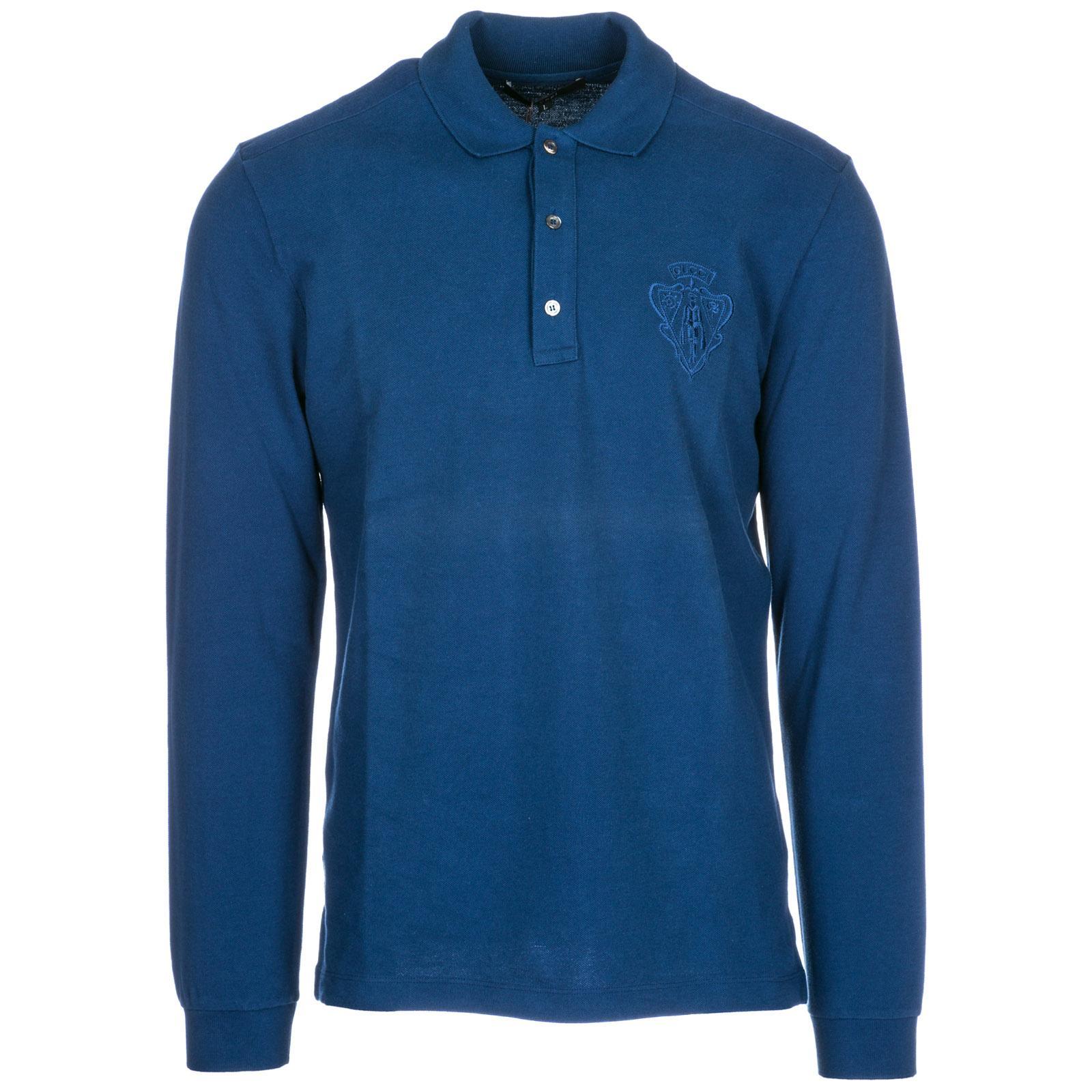 26934c9e6e67 Gucci Men's Long Sleeve T-Shirt Polo Collar In Blue | ModeSens