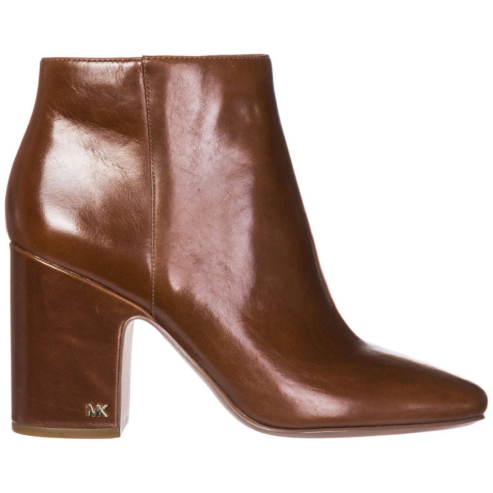 6da6614bd8 Women's Leather Heel Ankle Boots Booties Elaine in Brown