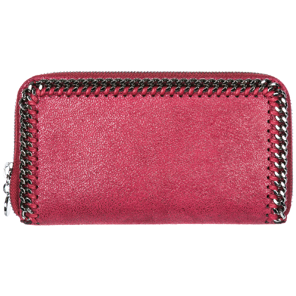 Stella Mccartney Women's Wallet Coin Case Holder Purse Card Bifold  Continental Falabella In Red