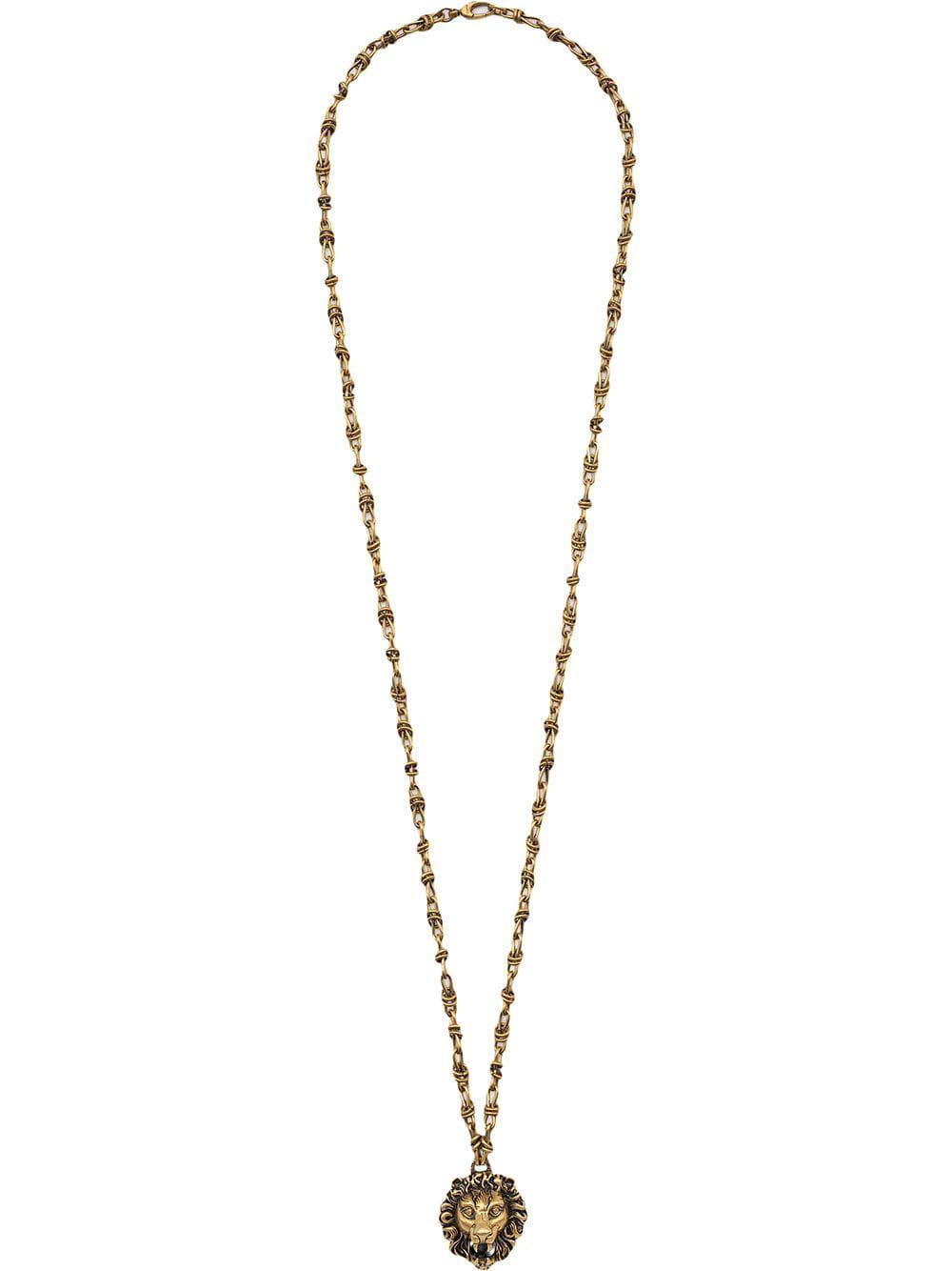 b9f0951c1 Gucci Lion Head Pendant Necklace - Pendant Design Ideas
