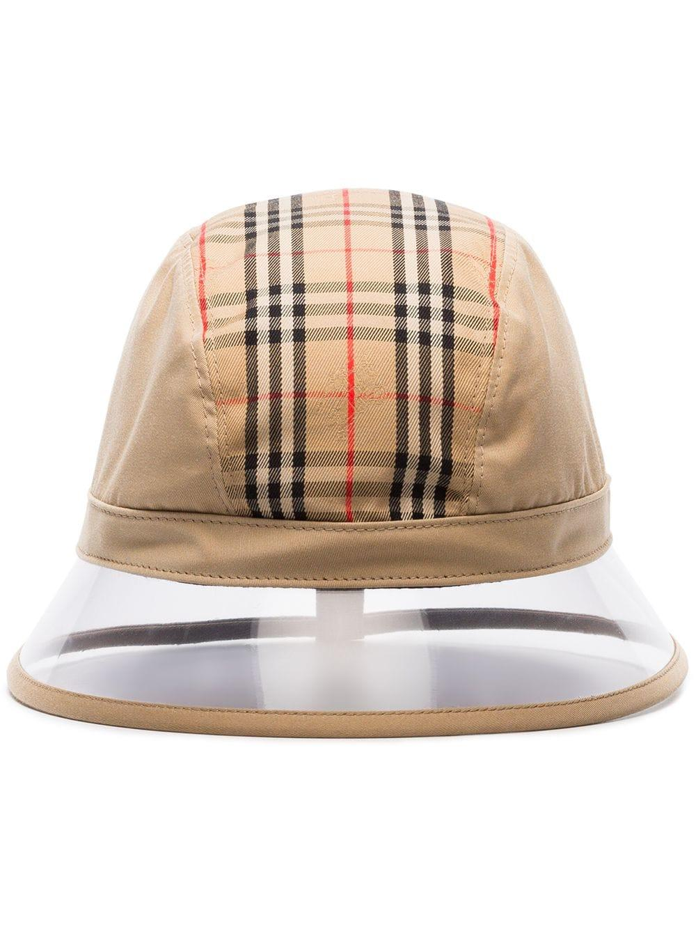 92cf11c912b Burberry Vintage Checked Bucket Hat - Nude   Neutrals