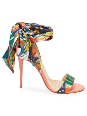 19a5c0ef8314 Christian Louboutin Sandalse Du Desert Red Sole Sandals In Multi ...