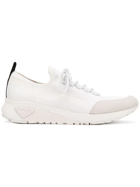 Diesel S-Kby Stripe Sneakers In White