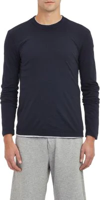 7e832d7e James Perse Long Sleeve Crewneck T-Shirt In Navy | ModeSens