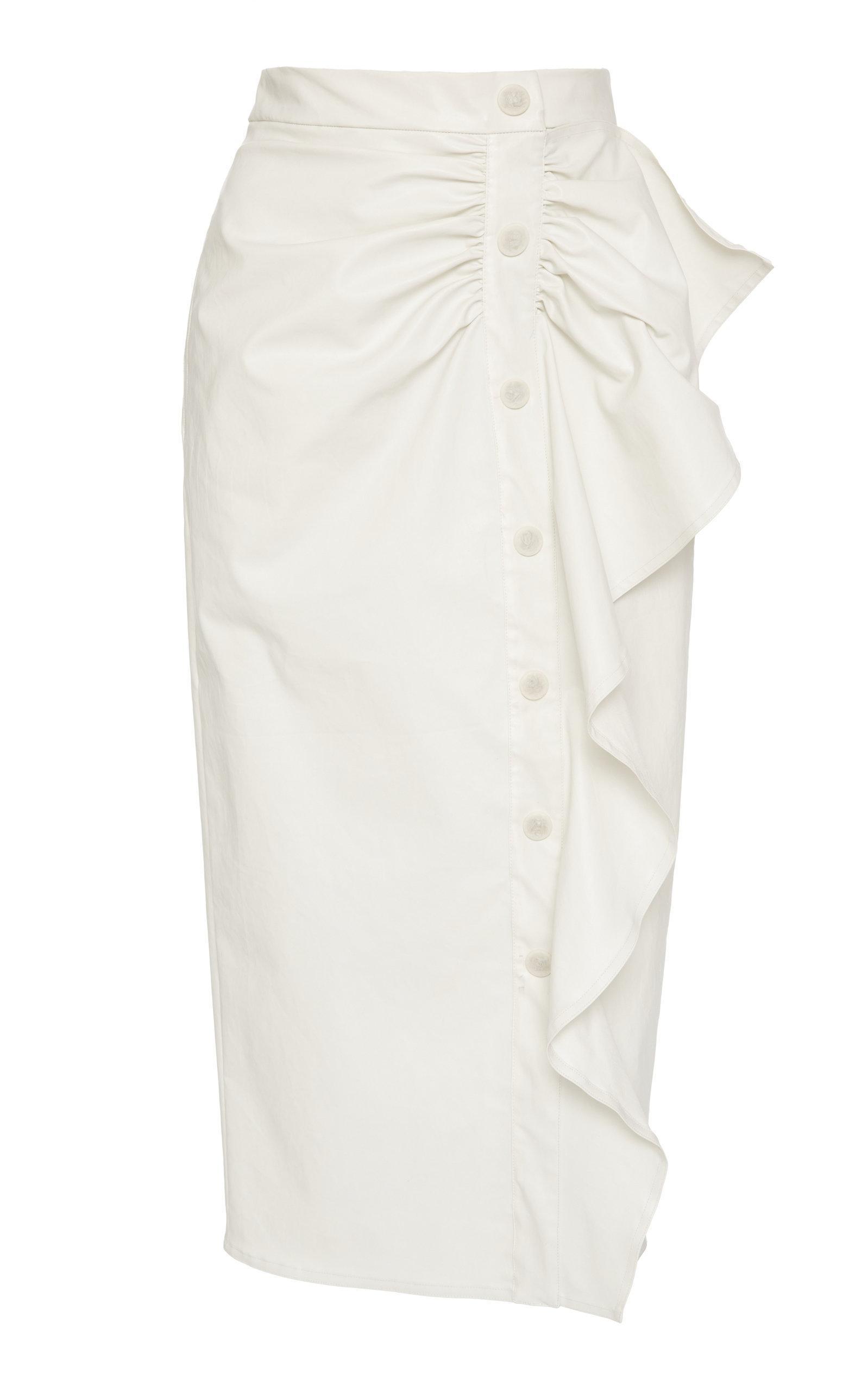 ddfaaabc8 Max Mara Edmond Cotton-Twill Pencil Skirt In White   ModeSens