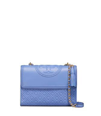 0d9b94051422 Tory Burch Fleming Convertible Shoulder Bag In Silver Maple