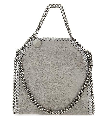 Stella Mccartney The Falabella Tiny Faux Brushed-Leather Shoulder Bag In Grey