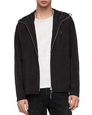 Allsaints Darley Hooded Zip Jacket In Black