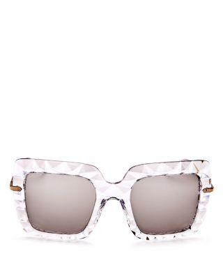 d9f27f5d355c Dolce   Gabbana Square Faceted Sunglasses In Silver