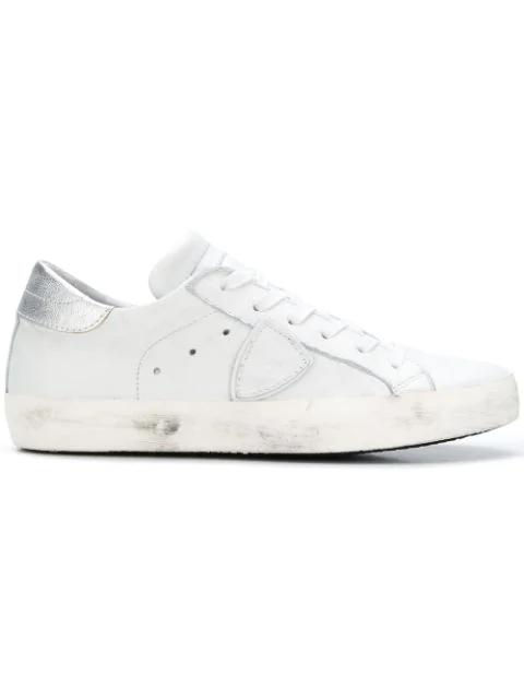 Philippe Model White Leather Paris Stud Sneakers
