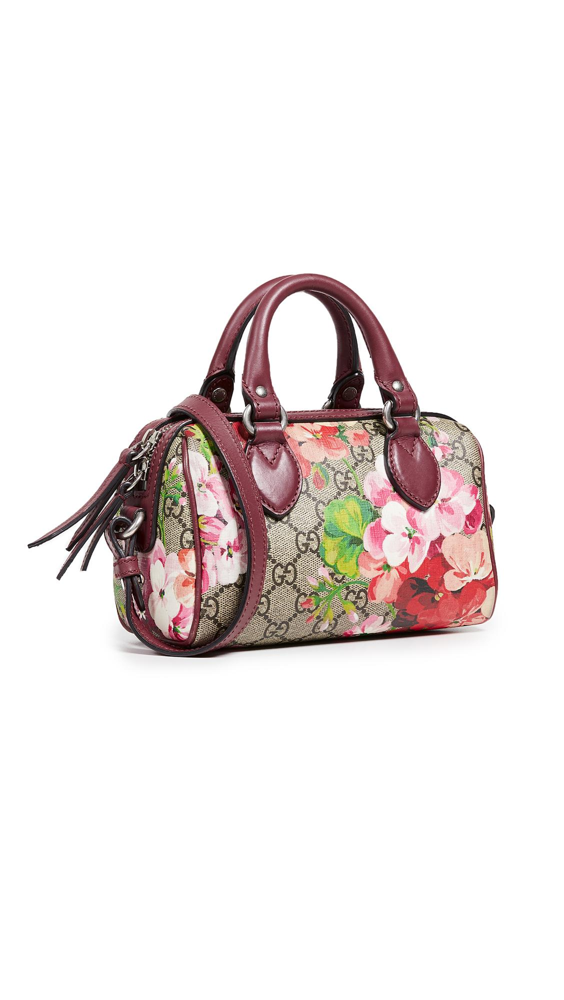 21a4c4183c44 What Goes Around Comes Around Gucci Pink Gg Blooms Boston Mini Bag ...