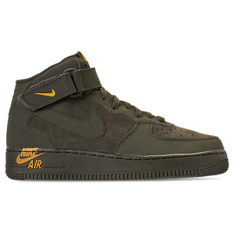 competitive price 1c3c8 3c86f Nike Men s Air Force 1 Mid Casual Shoes, Green