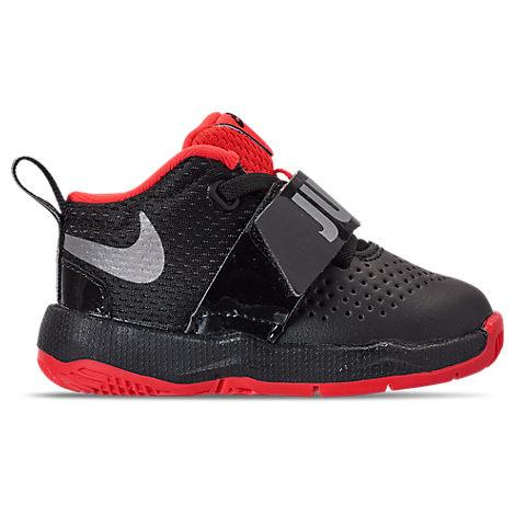 f281a56b6dc4c Nike Boys' Toddler Team Hustle D8 Jdi Basketball Shoes, Black. Finish Line