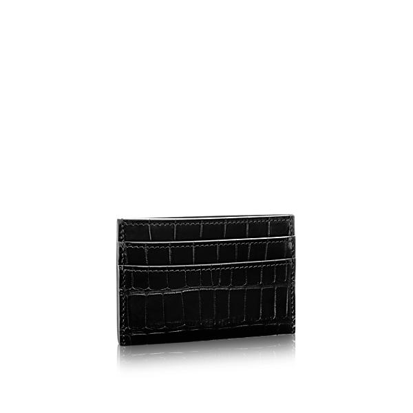 magasin en ligne 802dd 285e5 Porte Cartes Double in Noir