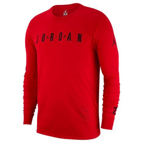 54ad9f373d19d Men's Air Jordan Basketball Long-Sleeve T-Shirt, Red