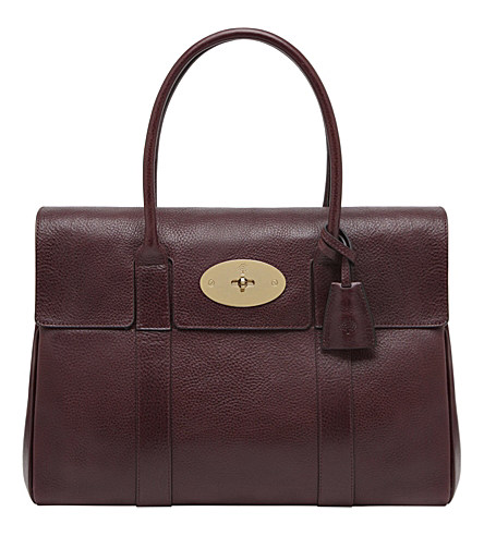 Mulberry Bayswater Leather Bag In Oxblood