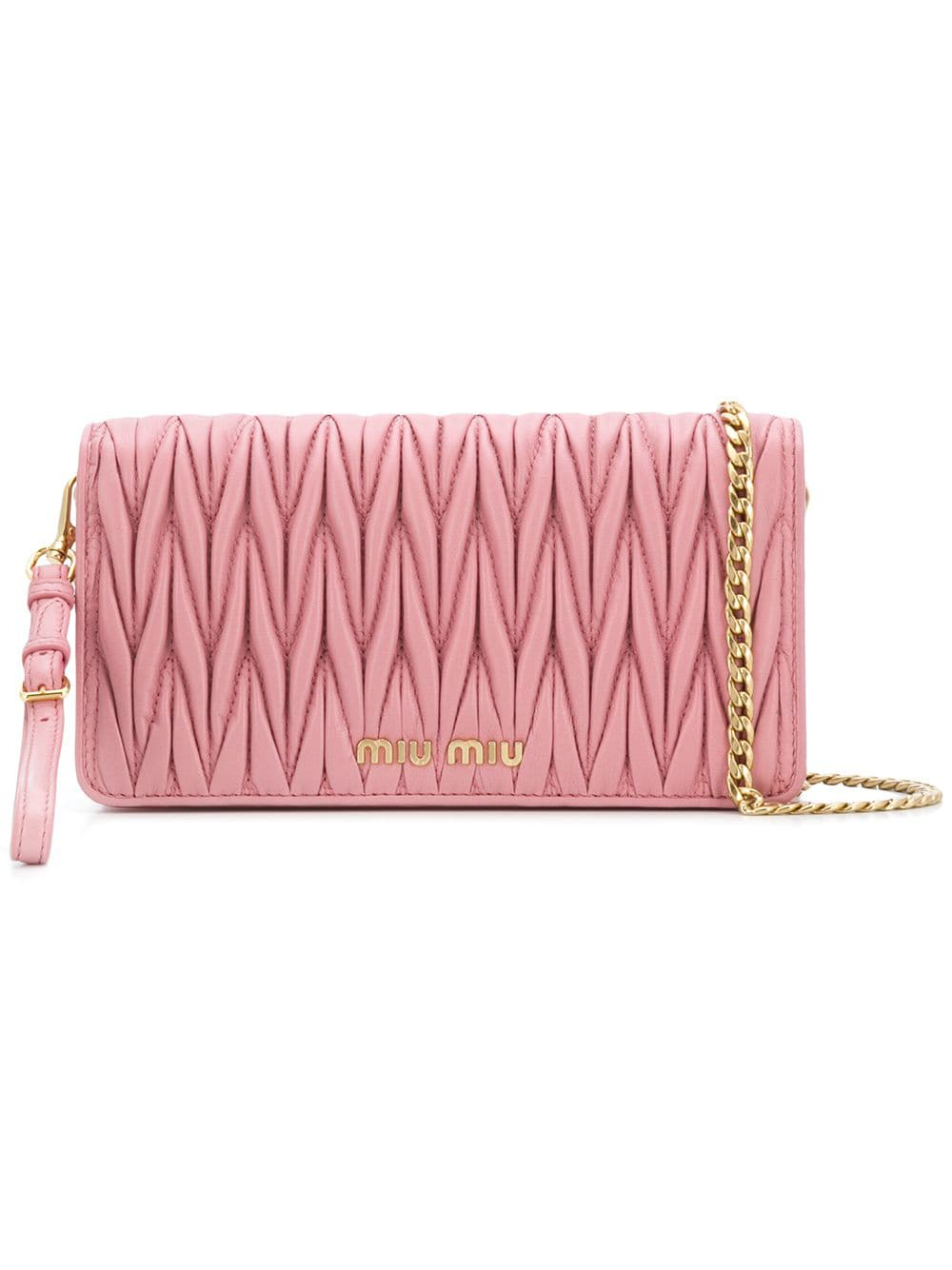 7cc1d3eba52a Miu Miu MatelassÉ Clutch Bag In Pink
