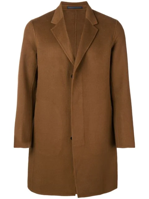 Theory Single Breasted Coat In Hazel/wnm