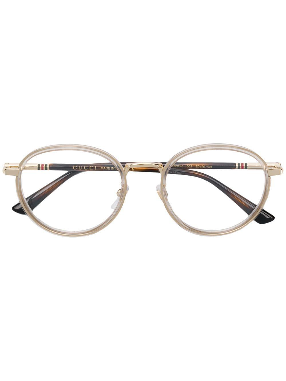 aa51c82e1b30e Gucci Eyewear Round Frame Glasses - Brown