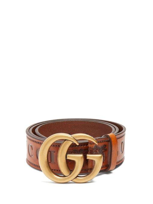 ad6725bf7d051 Gucci - Gg Logo 4Cm Leather Belt - Womens - Tan | ModeSens