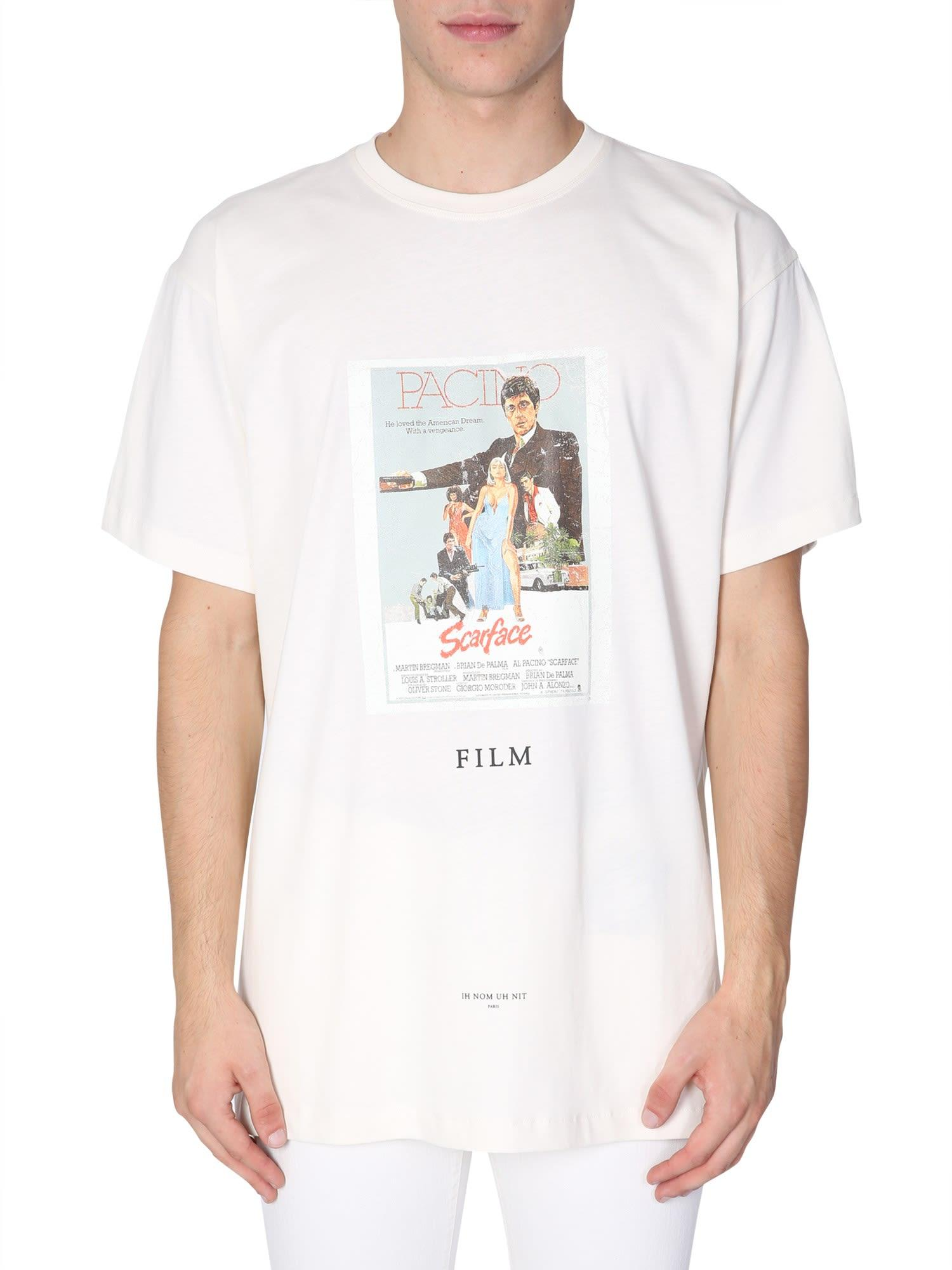 Ih Nom Uh Nit Scarface Printed T-Shirt In Bianco